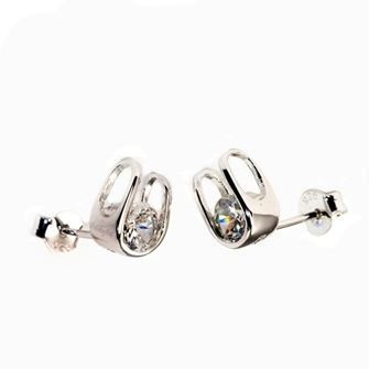 Falabella Sterling Silver Horse Shoe Stud Earrings with Presentation Box ER14