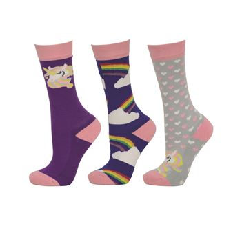 HyFASHION Unicorn Socks (Pack of 3) Child's