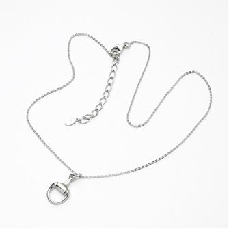 Falabella Sterling Silver Small Snaffle Bit Pendant with Presentation Box PD19