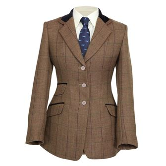Shires Ladies Huntingdon Show Jacket (Brown Herringbone)