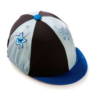 Carrots Blue Stars Riding Hat Cover