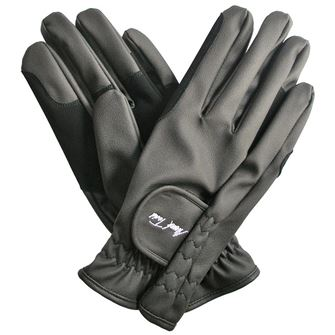 Mark Todd Synthetic Faux Leather Riding Gloves