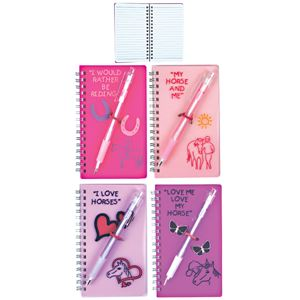 Fluorescent Horse Notebook and Pen Set