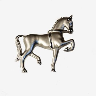 Falabella Sterling Silver Dressage Brooch with Presentation Box SP02