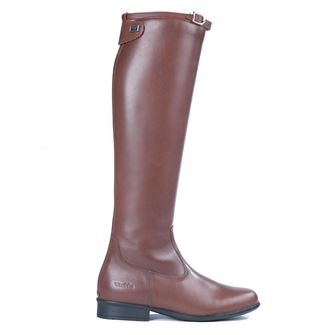 Tuffa Showtime Italian Leather Long Riding Boots Brown