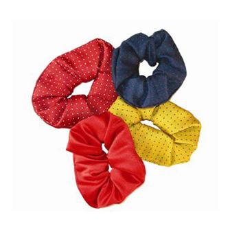 Coloured Show Scrunchies