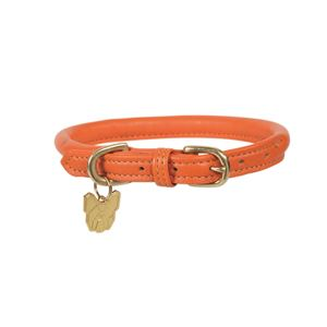 Shires Digby & Fox Rolled Leather Dog Collar, XS to XXXS