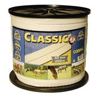Classic Fencing Tape 200m X 40mm (White)