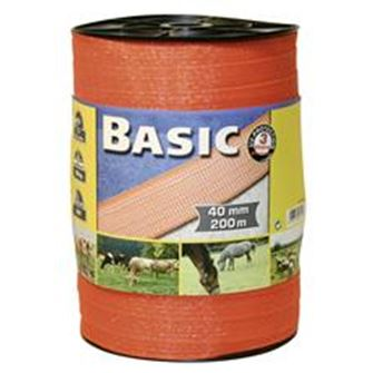 Basic Fencing Tape 200m X 40mm (Orange)