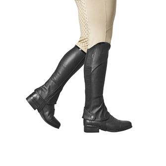 Dublin Stretch Fit Childs Half Chaps with Patent Piping