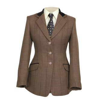 Shires Children's Huntingdon Show Hacking Jacket (Brown Herringbone)