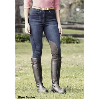 Dublin Shona Knee Patch Denim Ladies Breeches