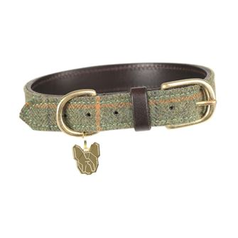 Shires Digby & Fox Tweed Dog Collar - XS & S