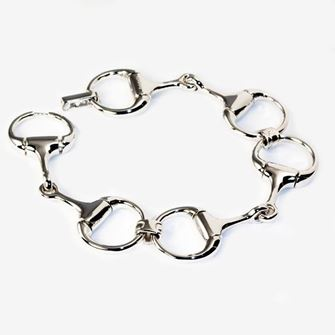 Falabella Sterling Silver Snaffle Bracelet Medium Weight with Presentation Box BR04