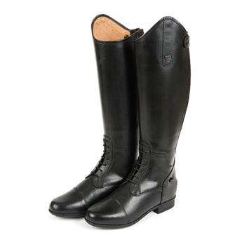 Sherwood Forest Hepburn Long Leather Laced Riding Boots