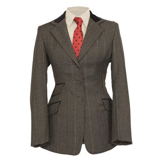 Shires Ladies Huntingdon Show jacket (Green Check)