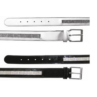 Mark Todd Diamante Leather Belt- Patent