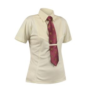 Shires Ladies Short Sleeve Tie Shirt
