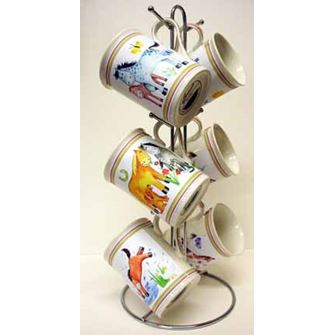 Pony Pals Set 6 Bone China Mugs with Stand Gift Boxed
