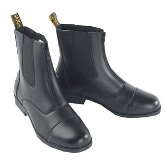 Saxon Equileather Zip Paddock Boots (sizes UK6 - UK8)