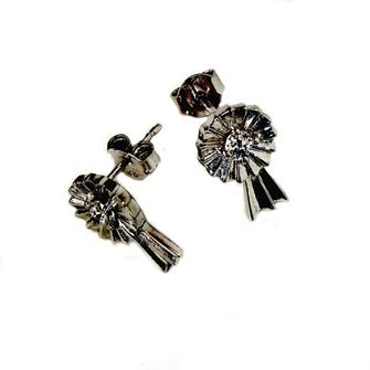 Falabella Sterling Small Rosette Stud Earrings with Presentation Box ER08