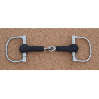 D cheek Rubber Covered Snaffle