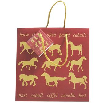 Maroon Horse Small Gift Bag