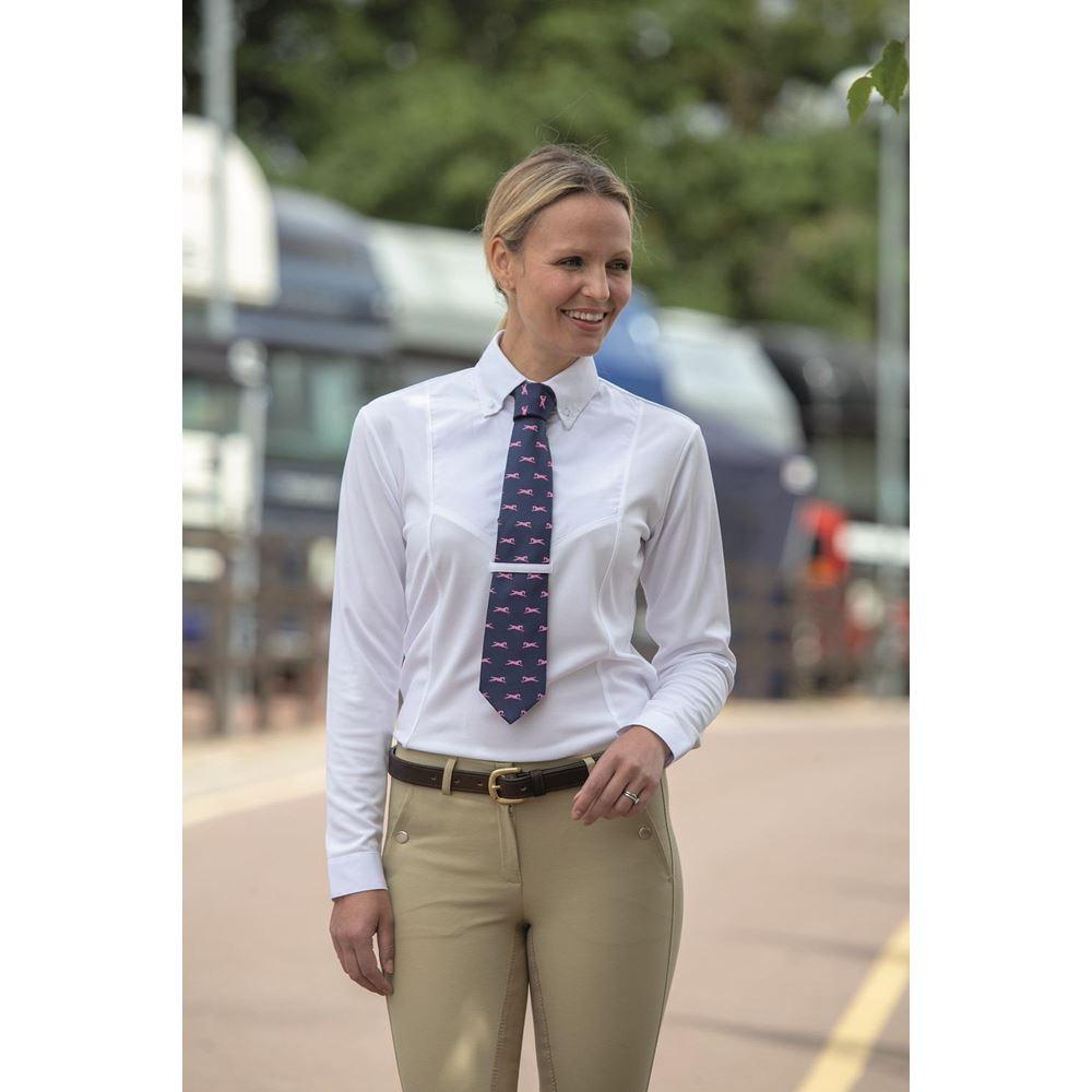 ladies All Sizes  XXS-XXL Shire Air Dri Long  sleeve tie  shirt