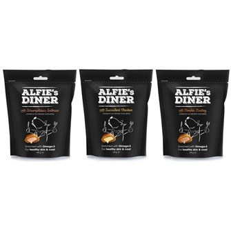 Alfies Diner Dog Bites 100g