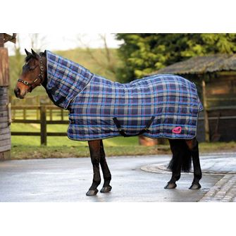 Masta Quiltmasta 350g Check Fixed Neck Stable Rug