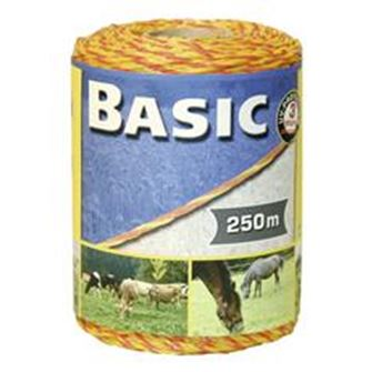 Basic Fencing Polywire 250m (Yellow/Orange)