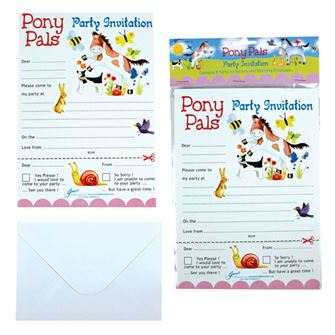 Pony Pals Invitations and Envelopes (8 pack)