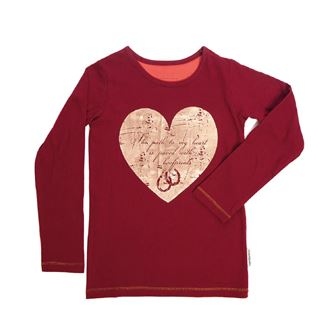 Horseware Girls Long sleeve Top - The path to my heart