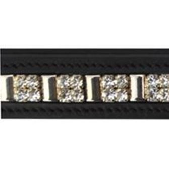 JHL Squared Silver Diamonte Browband