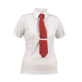 Shires Aubrion Ladies Short Sleeve Tie Shirt *Special Offer*