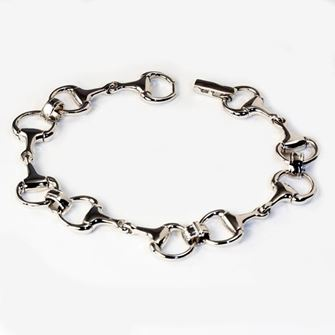 Falabella Sterling Silver Snaffle Bracelet Small with Presentation Box BR05
