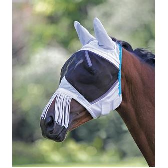 Shires Fine Mesh Mask with Nose Fringe