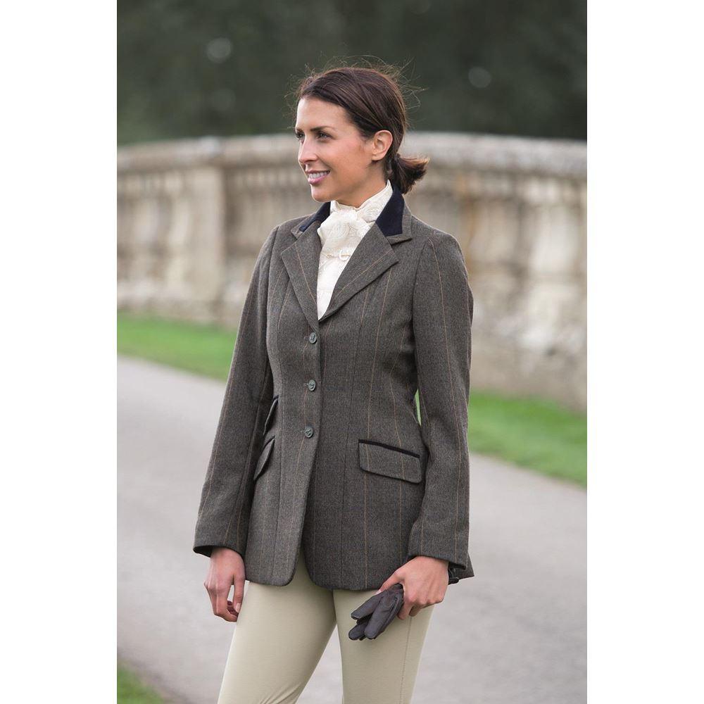 Hacking Jacket Green Check New Shires Ladies Huntingdon Show