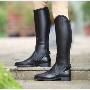 Shires Children's Synthetic Leather Gaiters