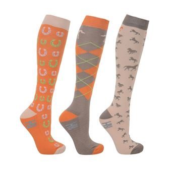 HyFASHION Horse Shoes Socks  (Pack of 3)