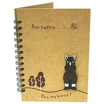 Wooden 'Bee My Horse' Notebook Large